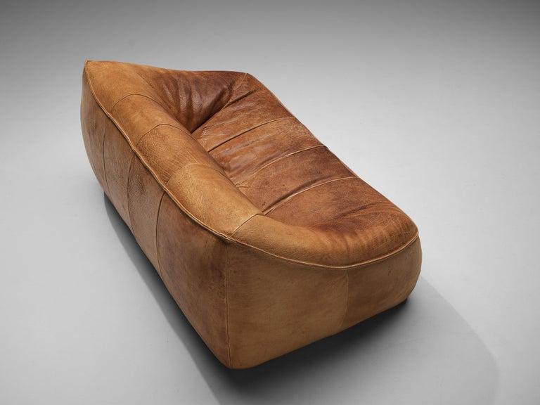 Gerard Van Den Berg for Montis 'Ringo' Sofa in Patinated Leather For Sale 1