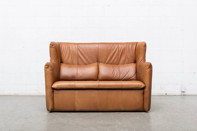 Gerard van den Berg Leather Love Seat For Sale 10