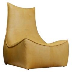 Gerard Van Den Berg Modern Brutalist Rock Chair in Leather, Montis Design
