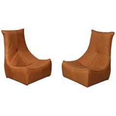 "Gerard Van Den Berg Pair of ""The Rock"" Lounge Chairs for Montis NL, 1970s"