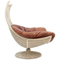 Gerard van der Berg Rattan Lounge Chair