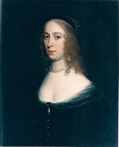 The Pearl Lady, Oil on board signed Honthorst, dated 1644