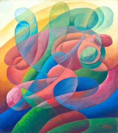Colori Innamorati, Gerardo Dottori, 1937 (Futurist Abstract Landscape)