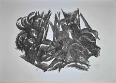 Composition - Original Lithograph by Gerardo Dottori - 1971