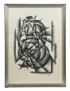 Futurist Composition - Original Lithograph by Gerardo Dottori - 1969