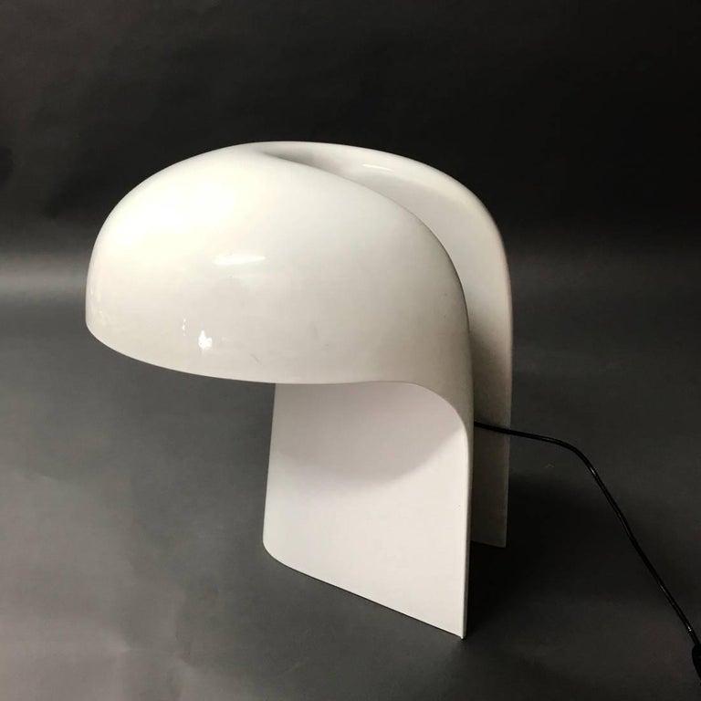 Gerd Lange White Table Lamp for Fehlbaum, Germany, 1970 For Sale 4