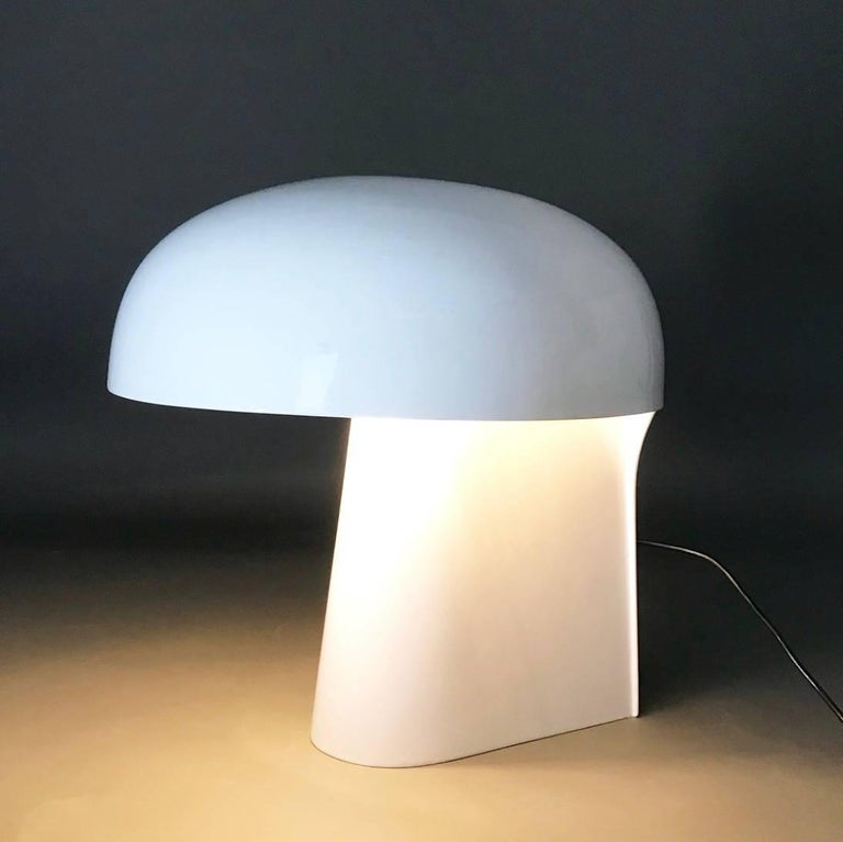Here is a good example on good Mid-Century Modern design for the contemporary home: Body is the name of this rare and unique large table lamp by Gerd Lange for Fehlbaum Collection, Germany 1970.  Made in a low number this beautiful table lamp is