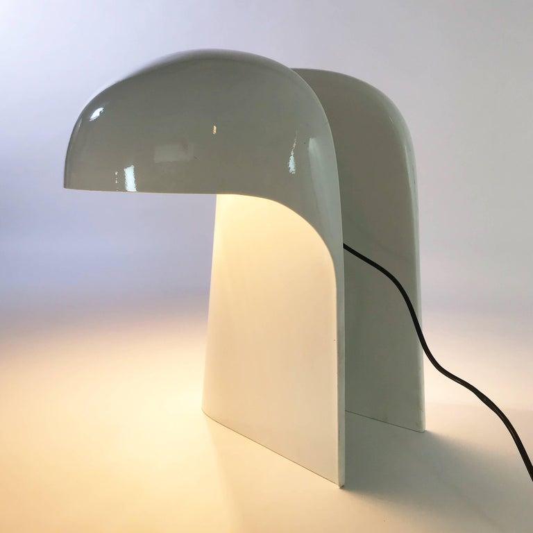 Modern Gerd Lange White Table Lamp for Fehlbaum, Germany, 1970 For Sale