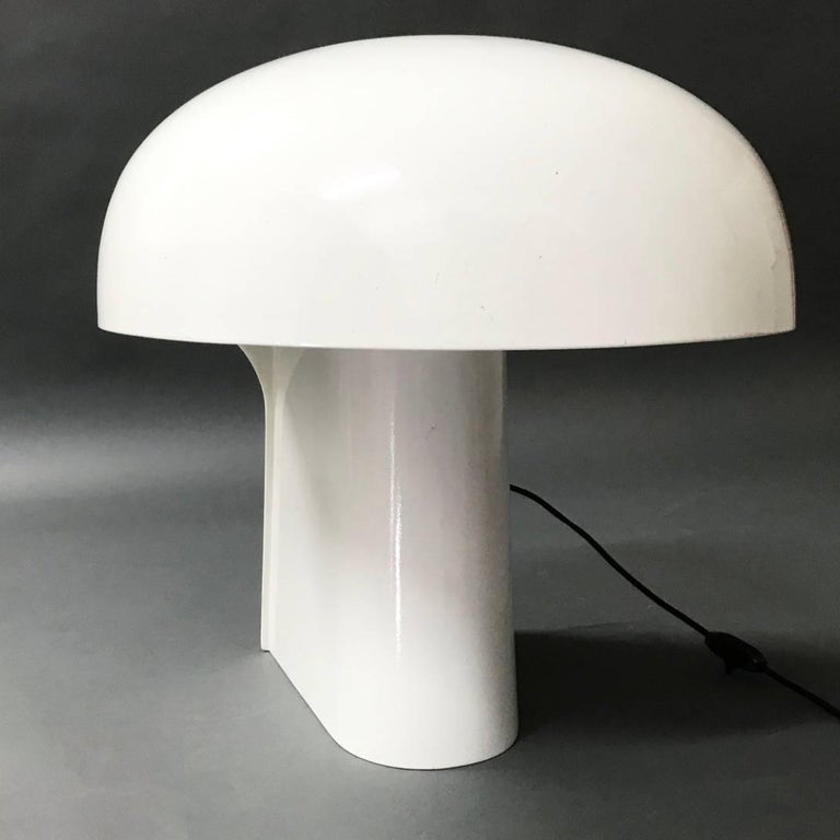 Late 20th Century Gerd Lange White Table Lamp for Fehlbaum, Germany, 1970 For Sale