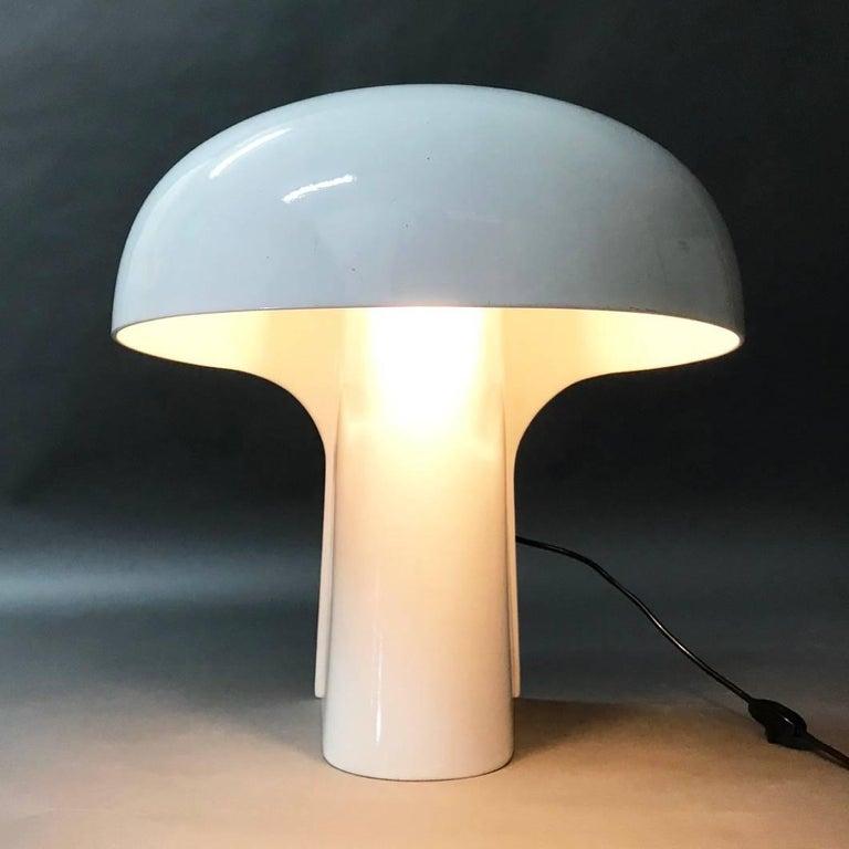 Gerd Lange White Table Lamp for Fehlbaum, Germany, 1970 For Sale 2