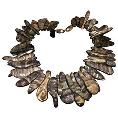 Gerda Lynggaard for Monies Signed Designer Choker Necklace Estate Fine Jewelry