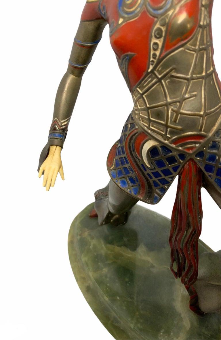 Gerdago Bronze and Ivory Enamel Figure of a Dancer For Sale 2