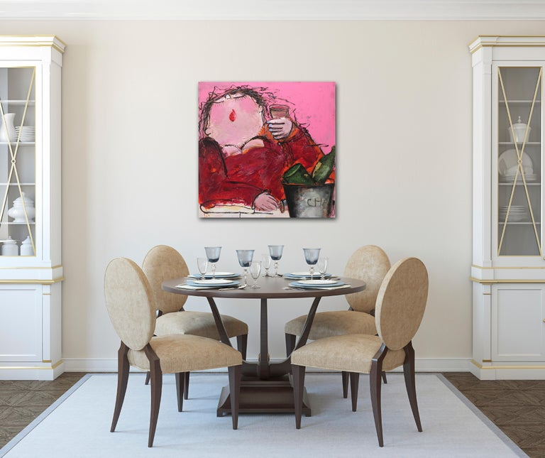Gerdine Duijsens' spirited and evocative figures are instantly recognizable and unforgettable. Through lush, bold colors and energetic marks, her paintings emit a sense of pleasure and contentment. Their candid nature brings delight into the rooms