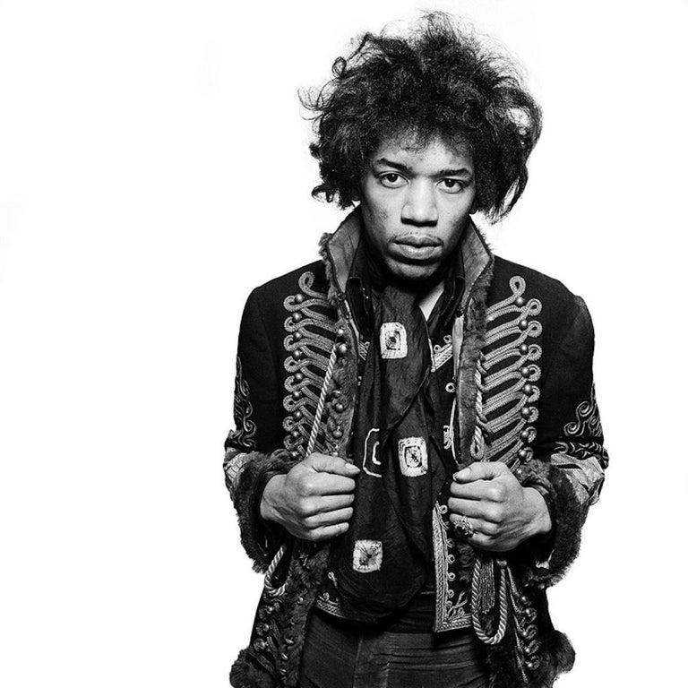Gered Mankowitz Black and White Photograph - 'Jimi Hendrix'  Signed Limited Edition