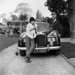 Keith Richards and Bentley in Black and White