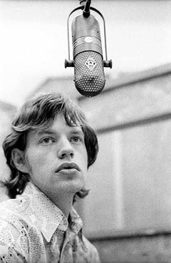 Mick Jagger in Front of Mike