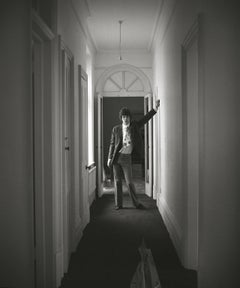 Mick Jagger at Home, Silver Gelatin Print, Black and white photography, portrait