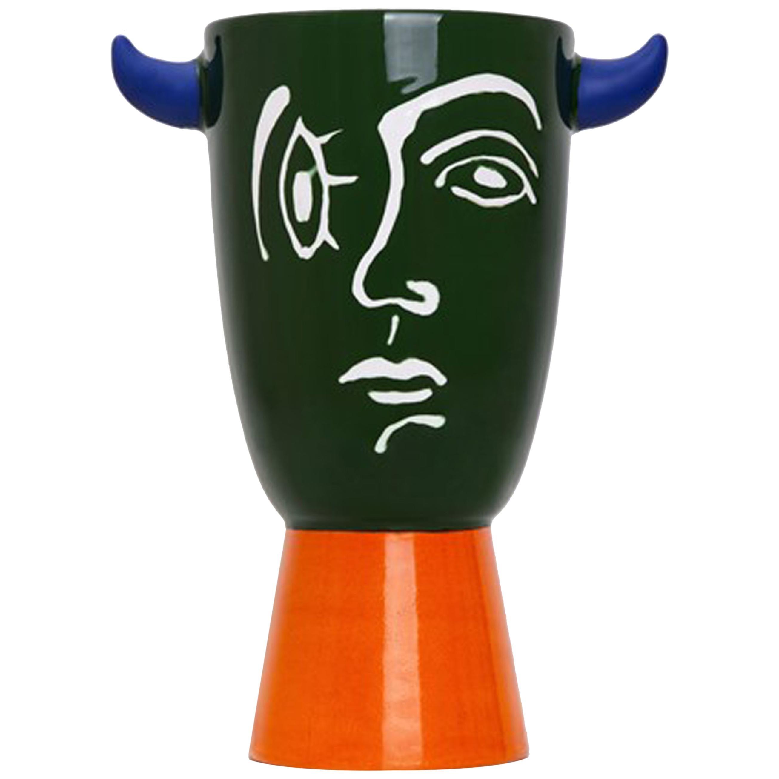Gergei Faun Pop Handmade Colored Ceramic Vase, Spain, 2020