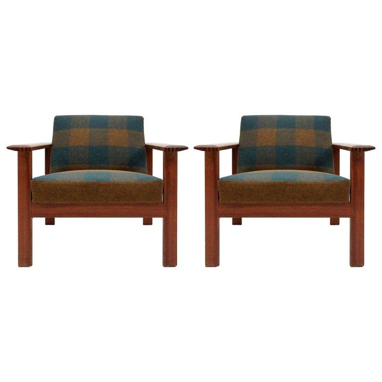"Gerhard Berg ""Kubus"" Lounge Chairs, 1960 For Sale"