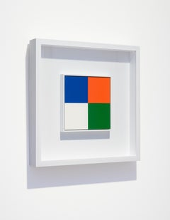 Quattro Colori, 2008, laquer, aluminium, colorfield, abstract, square, concrete
