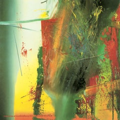 """After Gerhard Richter-DG-46"""" x 46""""-Poster-1991-Contemporary-Green, Yellow, Red"""