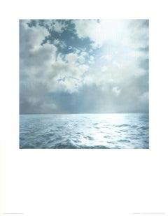 "Gerhard Richter-Seascape (No Text)-35.25"" x 27.5""-Poster-2004-Contemporary-Blue"