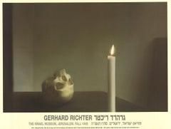 """Gerhard Richter-Skull with Candle-19"""" x 25.25""""-Poster-1995-Contemporary-Brown"""