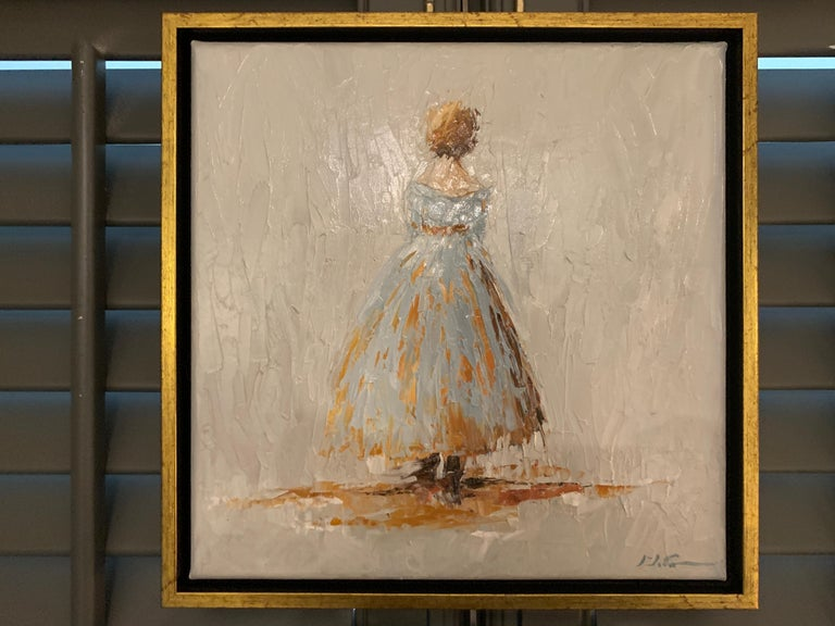 Amelia by Geri Eubanks, Small Framed Impressionist Oil on Canvas Painting 1