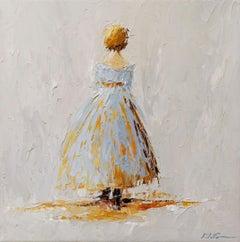 Amelia by Geri Eubanks, Small Framed Impressionist Oil on Canvas Painting