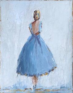Annette II by Geri Eubanks, Petite Framed Figure Impressionist Oil Painting