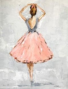 Ballerina II by Geri Eubanks, Petite Framed Figure Impressionist Oil Painting