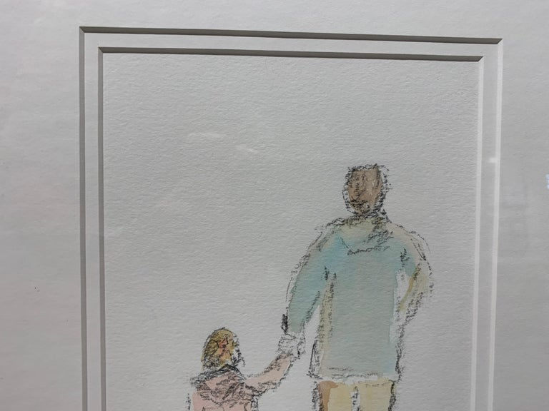 Daddy's Girl by Geri Eubanks, Petite Framed Impressionist Oil Painting For Sale 7