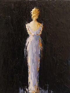 Emile by Geri Eubanks, Vertical Framed Impressionist Figurative Oil Painting