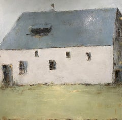 Forgotten Barn IV by Geri Eubanks, Large Framed Impressionist Oil Painting