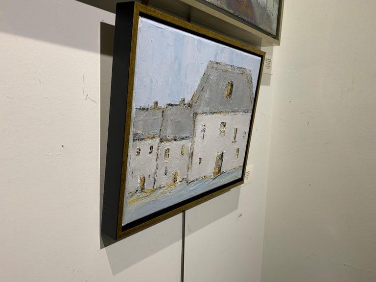 French Cottage II, Geri Eubanks, Impressionist Oil on Canvas Framed Painting For Sale 2