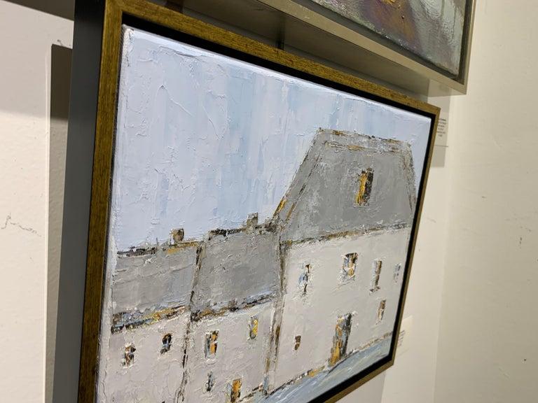 French Cottage II, Geri Eubanks, Impressionist Oil on Canvas Framed Painting For Sale 3