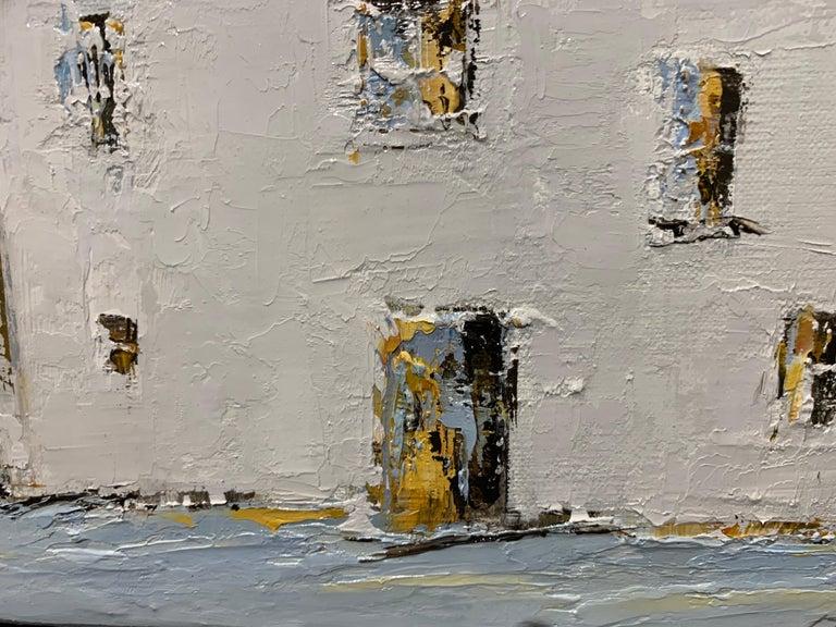 French Cottage II, Geri Eubanks, Impressionist Oil on Canvas Framed Painting For Sale 4
