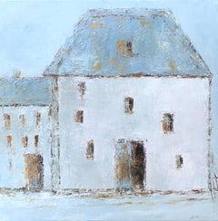 French Farm VI, Geri Eubanks, Impressionist Oil on Canvas Framed Painting