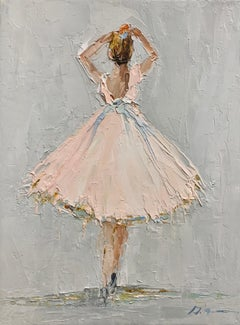 In The Moment by Geri Eubanks, Petite Framed Figure Impressionist Oil Painting