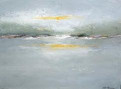 Morning Calls by Geri Eubanks, Small Framed Impressionist Landscape Oil Painting