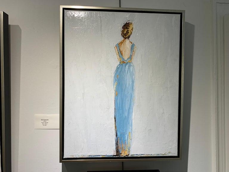 Olivia by Geri Eubanks, Framed Impressionist Oil on Canvas Painting 1