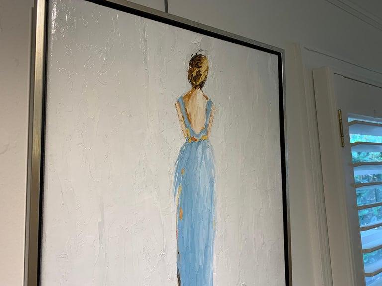 Olivia by Geri Eubanks, Framed Impressionist Oil on Canvas Painting 4