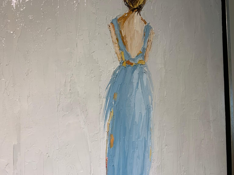 Olivia by Geri Eubanks, Framed Impressionist Oil on Canvas Painting 5