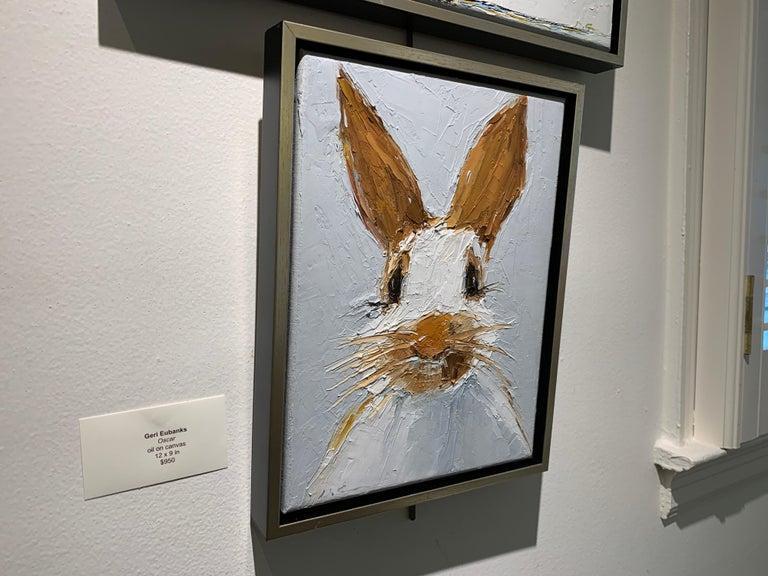 Oscar by Geri Eubanks Small Framed Rabbit Painting 2