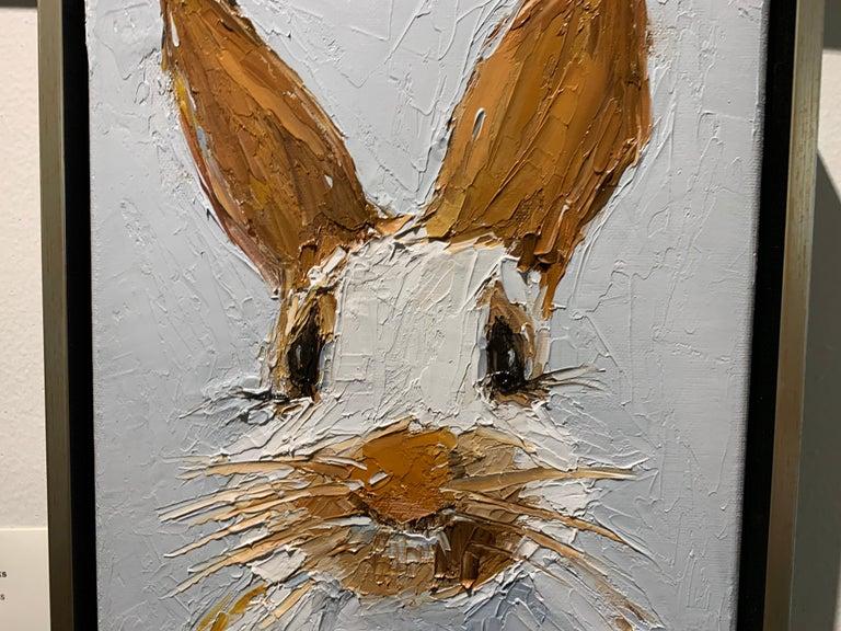 Oscar by Geri Eubanks Small Framed Rabbit Painting 3