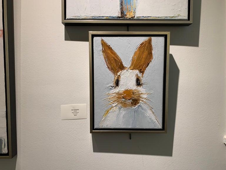 Oscar by Geri Eubanks Small Framed Rabbit Painting 5