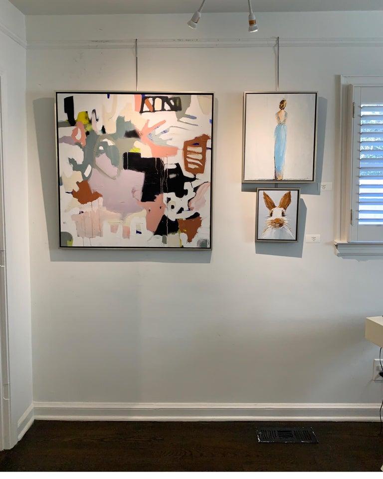Oscar by Geri Eubanks Small Framed Rabbit Painting 6