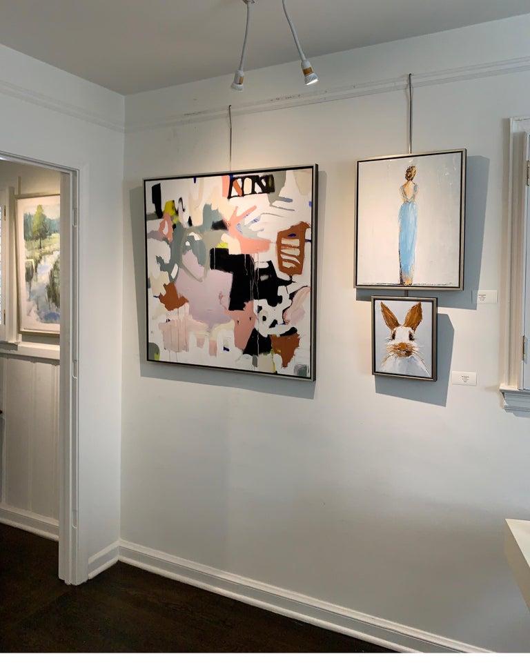Oscar by Geri Eubanks Small Framed Rabbit Painting 7