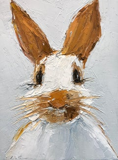 Oscar by Geri Eubanks Small Framed Rabbit Painting