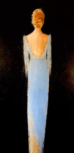 'Poised,' by Geri Eubanks Large Vertical Realist Figure Painting